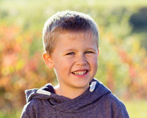 Kinderportrait im Herbst