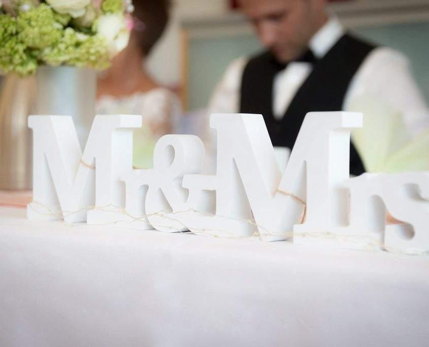 Tisch vom Hochzeitspaar
