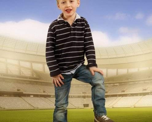kleiner Fußballstar ganz groß