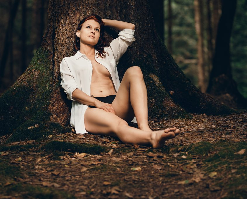 erotisches Outdoorshooting