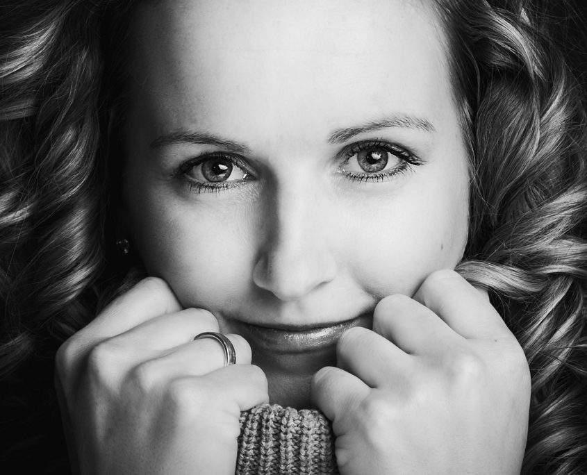 schwarz-weiß Portrait