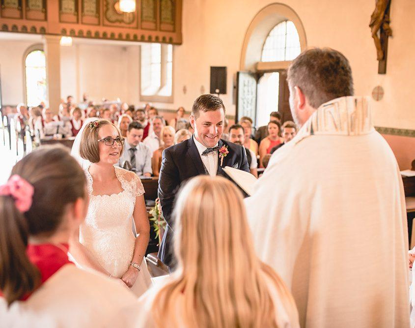 kirchliche Trauung eines Brautpaares im Zeiler Käppele